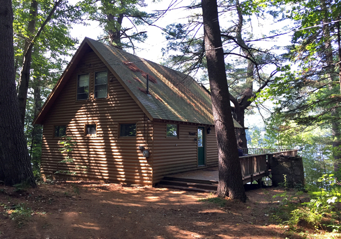 sebago lodging cabin pin maine rentals house lakefront boat cabins lake cottages family